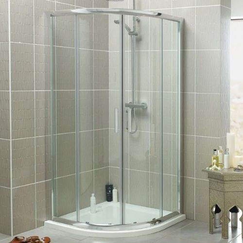 Kartell Koncept Quadrant Shower Enclosure With Shower Tray - 900mm x 900mm - 6mm Glass